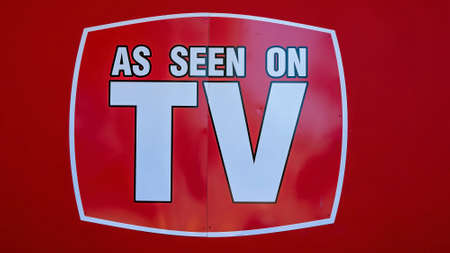 Mackay, Queensland, Australia - January 2021: As Seen On TV signage outside a retail shop