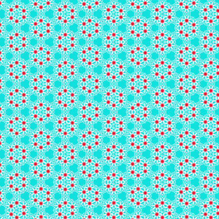 A colorful pattern in blue red and white tones, useful as wallpaper