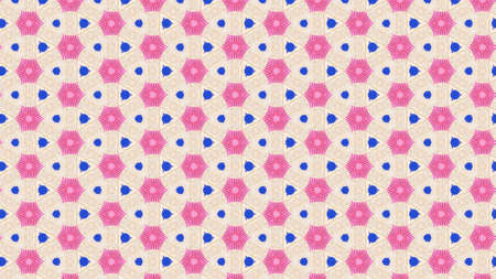 Pink and blue toned wallpaper on cream background 免版税图像