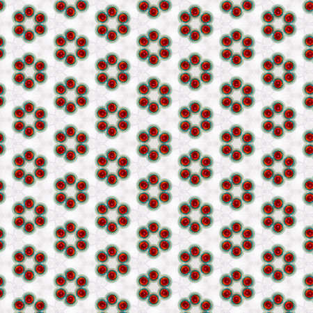 Red and blue circular pattern on white background - ideal wallpaper