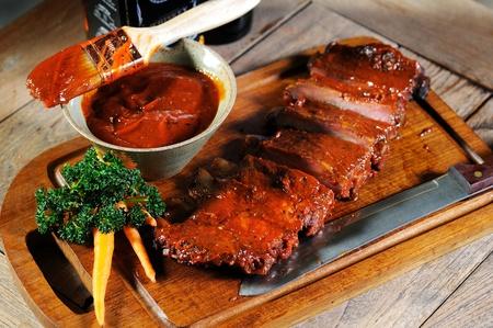 ribs cooking Standard-Bild