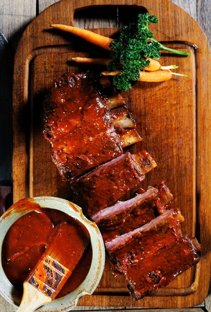 spare ribs: rips on block