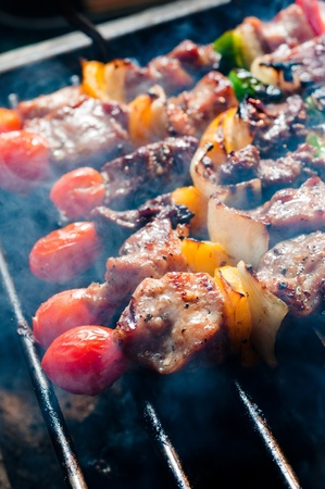 bbq on grill