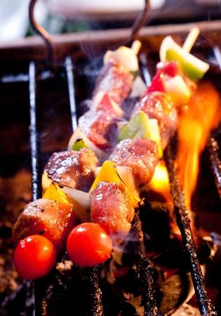 chicken bbq grill Standard-Bild