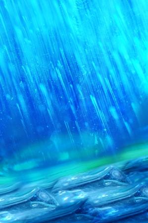 torrential: rain chemical Stock Photo
