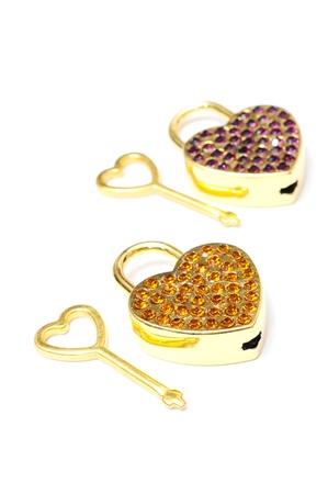 key of love, key of heart Stock Photo - 13657190