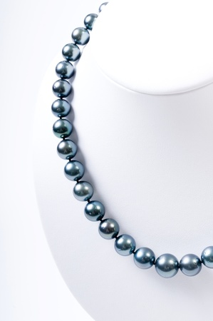 closeup of the Pearl necklace Stock Photo