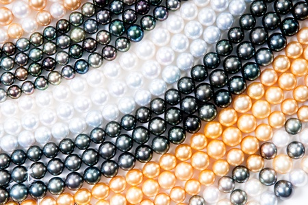 color pearls background, realistic
