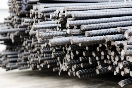 rejas de hierro: Barras de acero o barras utilizadas para hormig�n armado