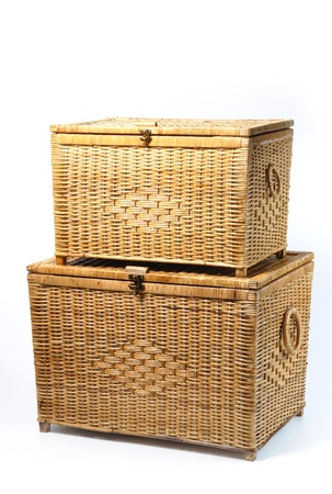 rattan trunk   box by woven photo