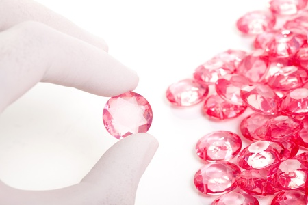 perfect hand keep the pink crystal diamond background photo