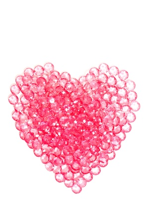 the heart pink crystal diamond, love photo