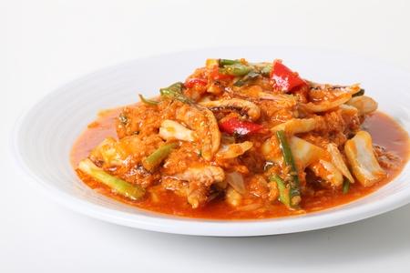 Chili Crab fire seafood photo
