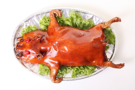 roasted pig, chinese food Stock Photo