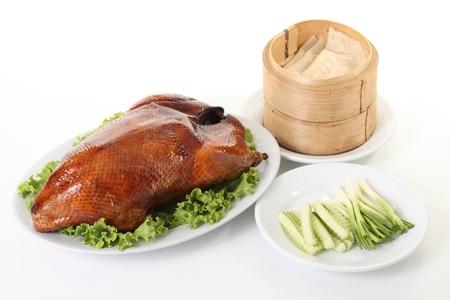 pato: Pato Pek�n y dim sum, la comida china Foto de archivo