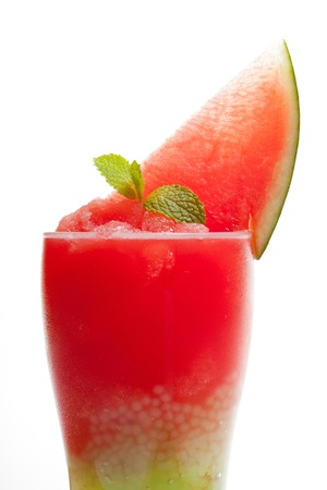 Smoothie watermelon with slice watermelon photo