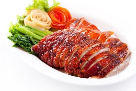 PATO: Pato asada y verduras, al estilo chino Foto de archivo