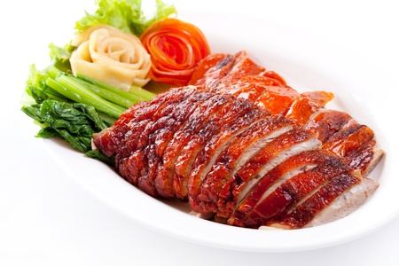 Roasted duck and vegetables, Chinese style Stock Photo