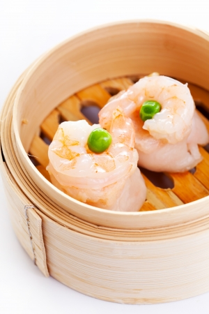 Shrimp Dim Sum in Bamboo Steamed Bow photo