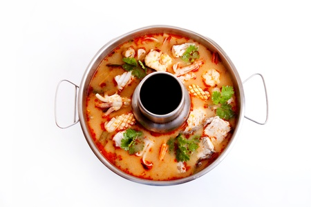 seafood soup, Thai spicy soup