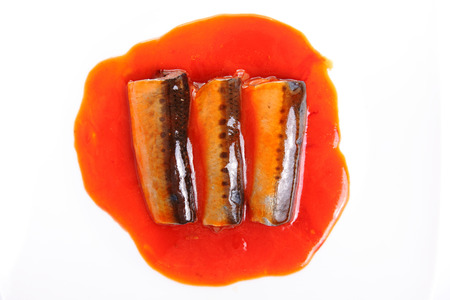 Sardines fish in tomato sauce, canned fish