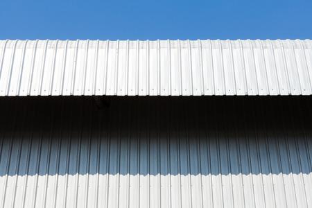 metal sheet: Architectural detail of metal, warehouse roof metal sheet
