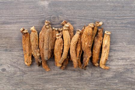 ginseng on the wood Standard-Bild