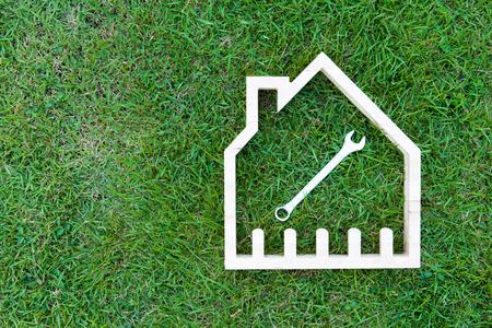 building tool: House construction renovate, Home improvement concept