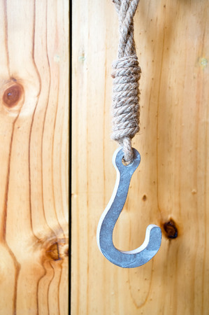 Rustic Heart Decoration Hanging From Hook On Wood Panel Wall.. Stock ...