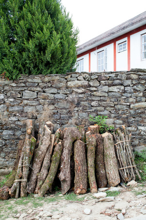 workable: Firewood stack Stock Photo