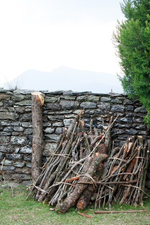workable: firewood stack
