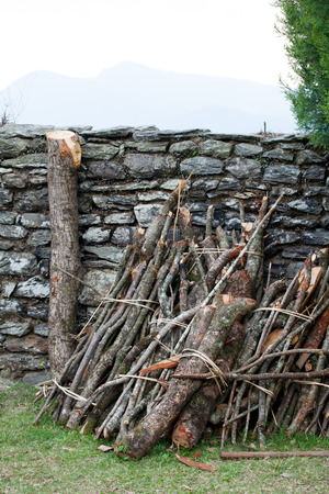 primary product: firewood stack
