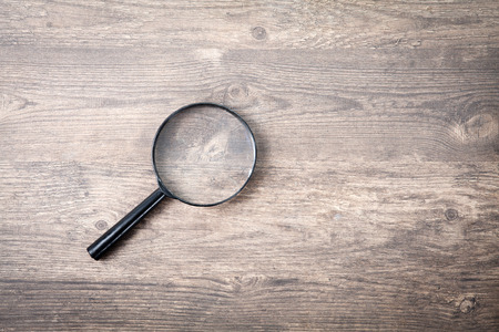 Magnifying glass search symbol Stock Photo