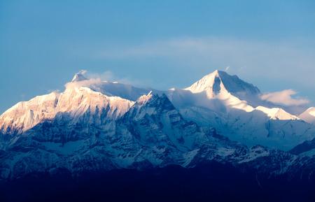 View of the himalayan peak Machhapuchhare, the fish tail, Pokhara, Nepal Banco de Imagens