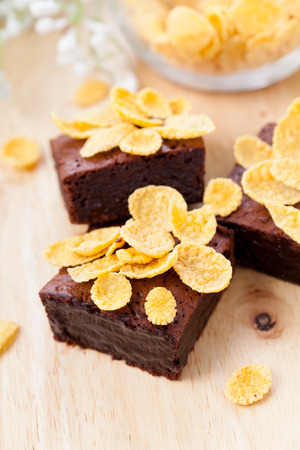 brownies: Chocolate brownies with corn flakes