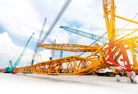 Mobile construction cranes and Crane truck, heavy industry