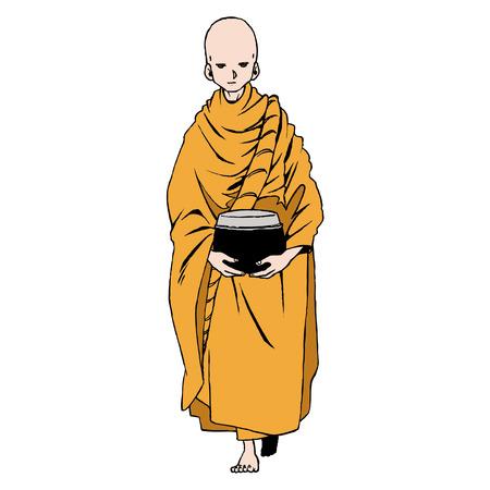necromancer: Thailand character set 1 monk Illustration