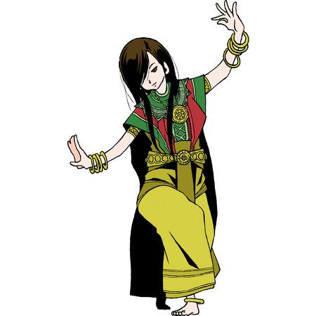 Thailand character set 1 ram tai Ilustrace