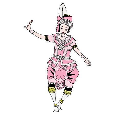 el drama musical popular Ilustración de vector