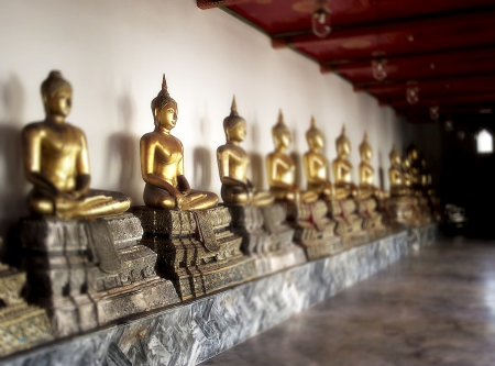 line of Buddhas Stock Photo - 17841654