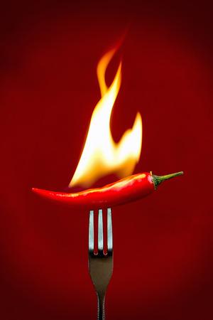 peper: Burning red hot chili peper
