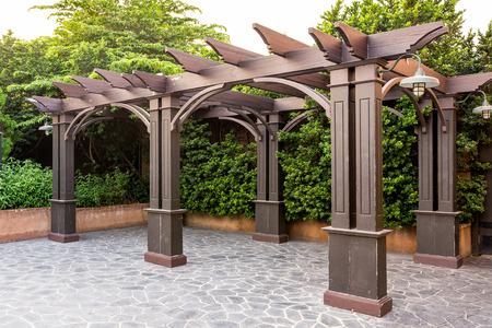 arbor: Pavilion in the garden Stock Photo