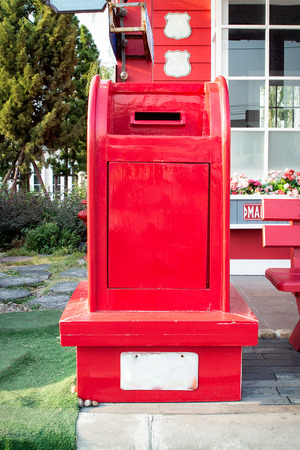typical: Typical red US postbox
