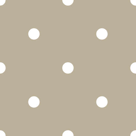 Classic Polka Dot Geometric Vector Repeated Seamless Pattern, in Neutral Beige / Taupe. Perfect for Weddings, Fabric / Textiles, Decor, Scrapbooking, Wallpaper and Backgrounds Banque d'images - 151147112