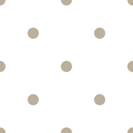 Classic Polka Dot Geometric Vector Repeated Seamless Pattern, in Neutral Beige / Taupe. Perfect for Weddings, Fabric / Textiles, Decor, Scrapbooking, Wallpaper and Backgrounds