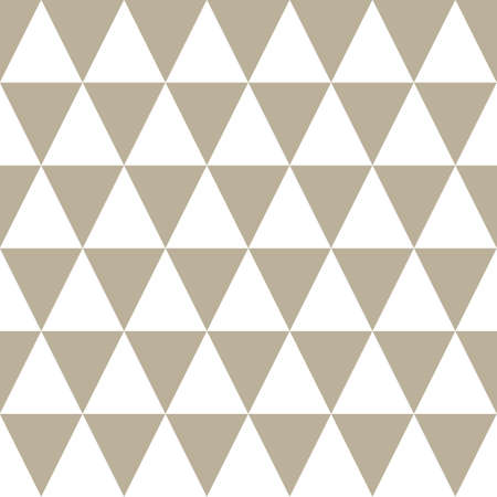 Classic Triangle Geometric Vector Repeated Seamless Pattern, in Neutral Beige / Taupe. Perfect for Weddings, Fabric / Textiles, Decor, Scrapbooking, Wallpaper and Backgrounds Banque d'images - 151147116