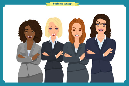 Businesswoman character vector design. business and office concept business people consulting Illustration