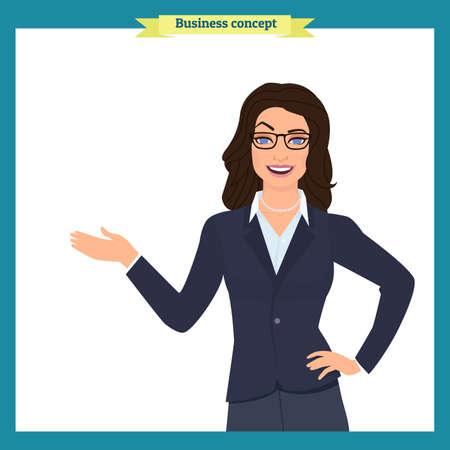 Businesswoman on white background