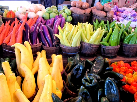 Peppers at the Farmers Market 2 Banque d'images