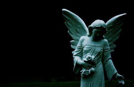 A statue of an angel. Banco de Imagens